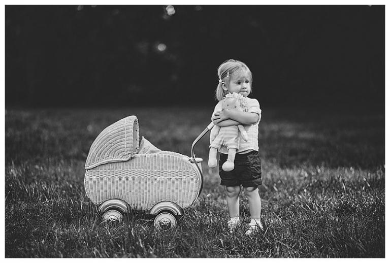 kinderwagen mit kind
